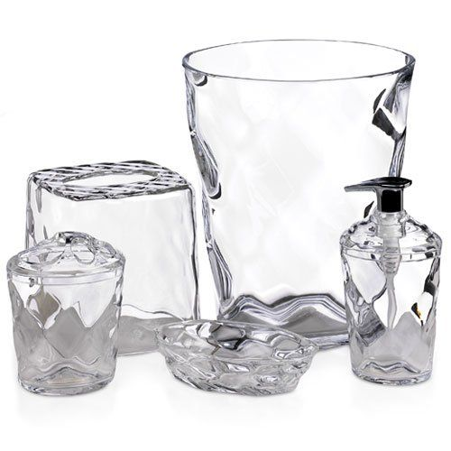 Glass Blocks 5piece Clear You Can Get More Details By Clicking On The Image Glass Blocks Bath Accessories Set Bath Accessories