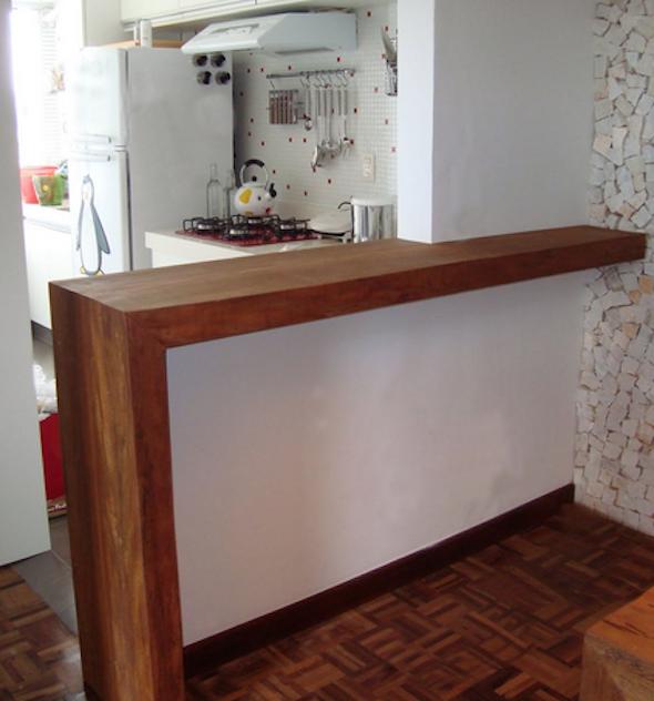 Bancadas de madeira na cozinha14 cocina pequenas - Bancadas de cocina ...