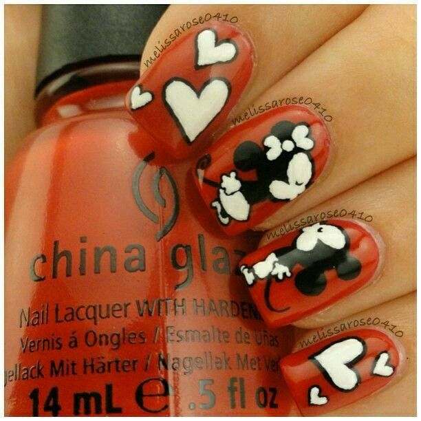 Mickey y minnie que tierno!!!! | Uñas | Pinterest