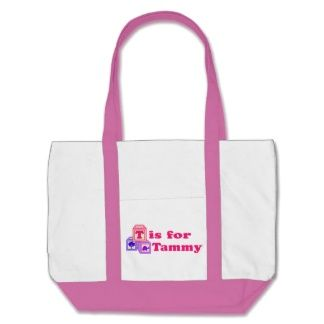 Baby Blocks Tammy Tote Bags