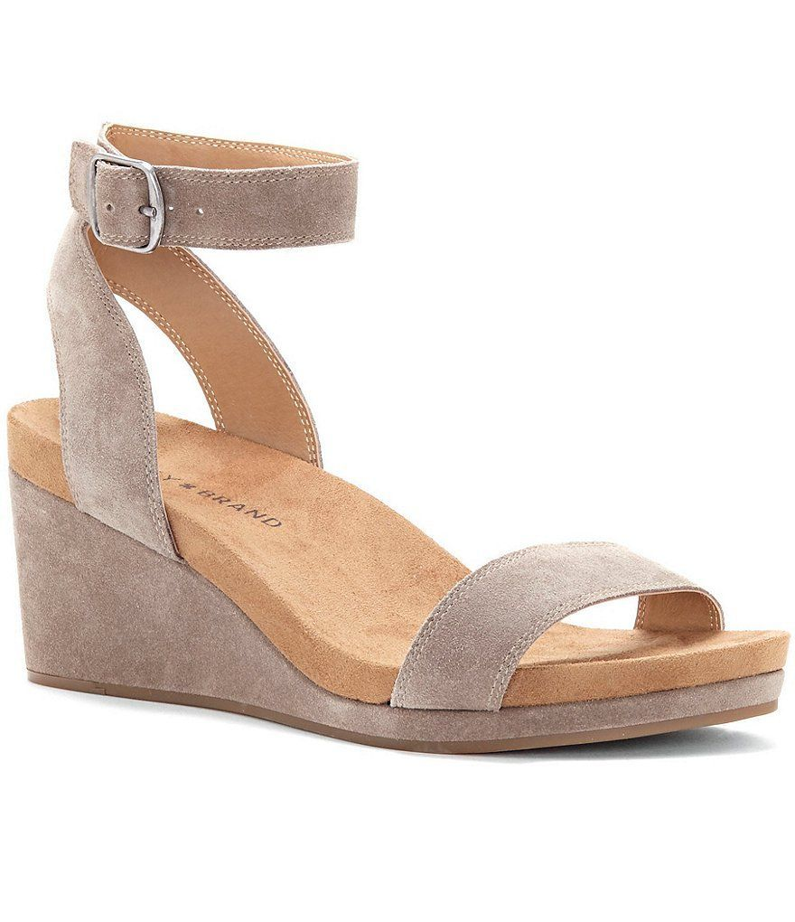 Brindle:Lucky Brand Karston Wedge Sandals #wedgesandals