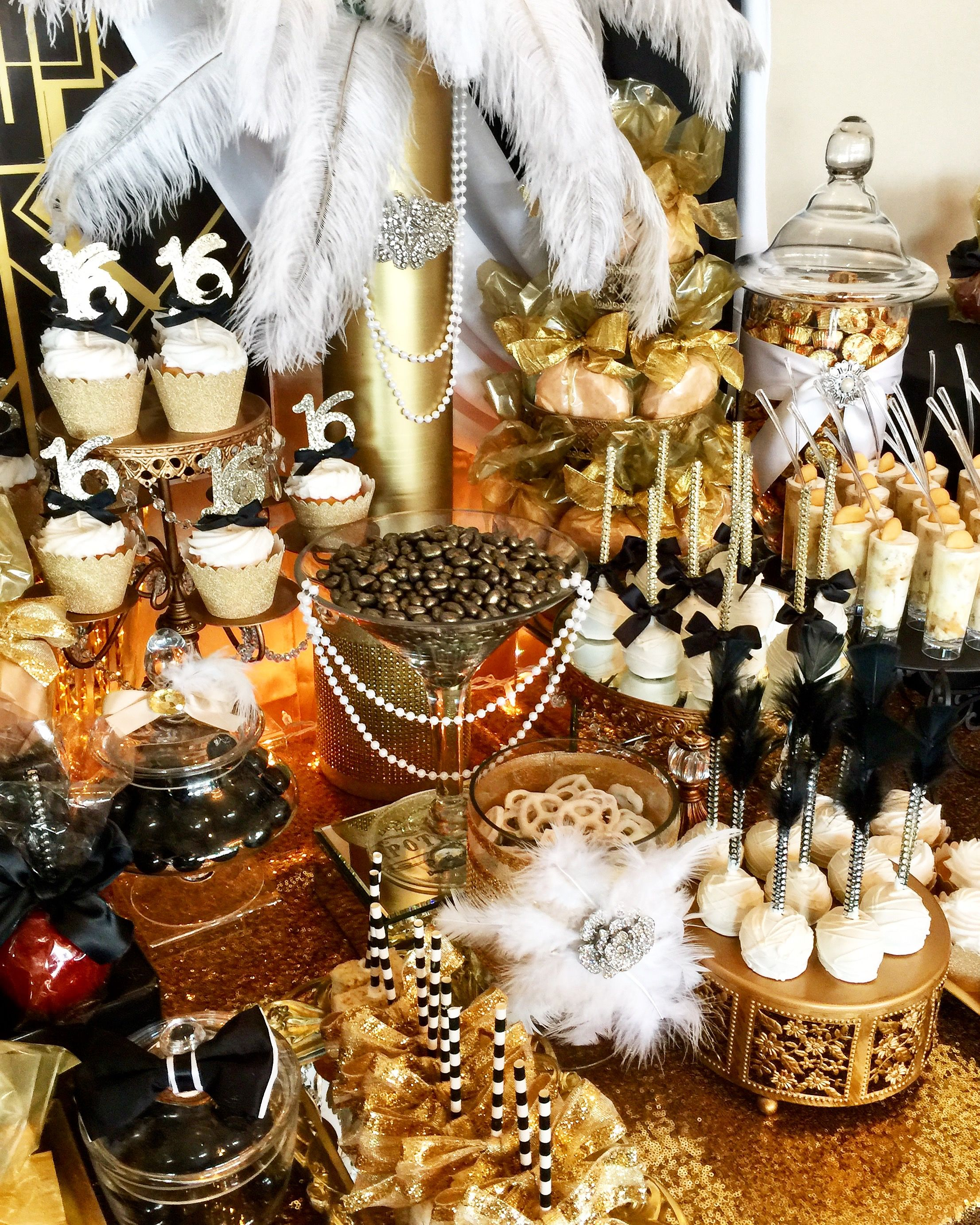 Great Gatsby Candy Buffet Candy Buffet Ideas Gatsby