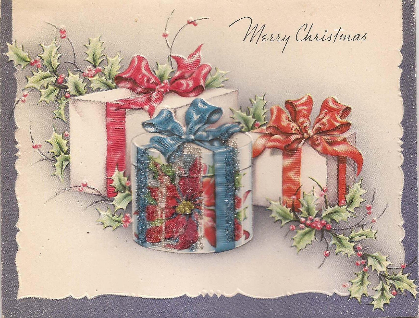 Vintage Christmas Card, X | Christmas | Pinterest | Vintage ...