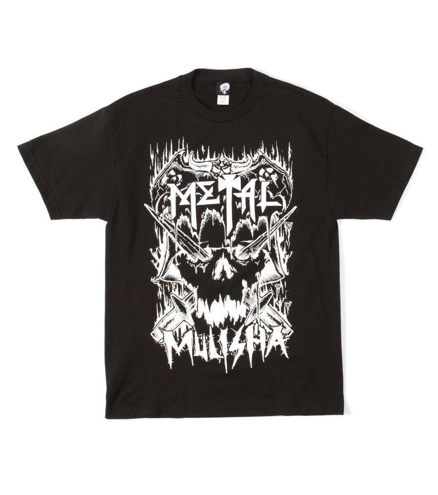 Black t shirt skull - Metal Mulisha Metalhead Tee Black T Shirt Skull Graphic Screen Print