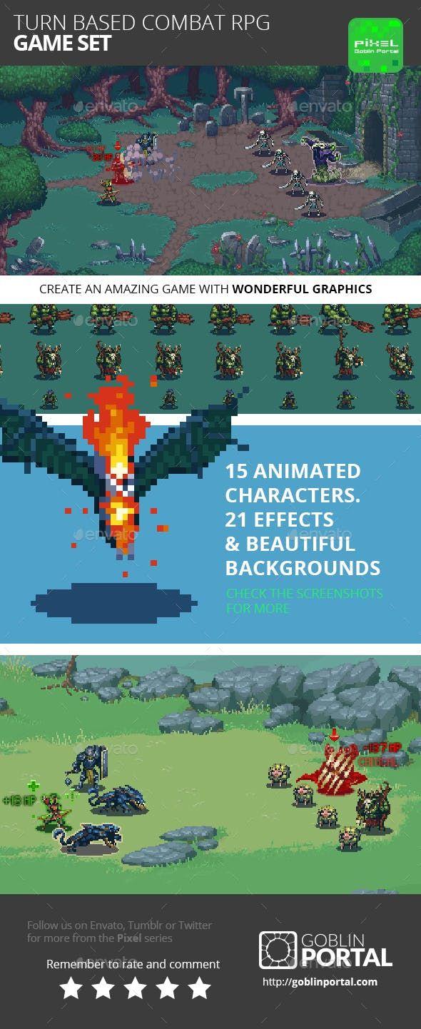 Turn Based Combat RPG Game Kit Game Kits Game Assets