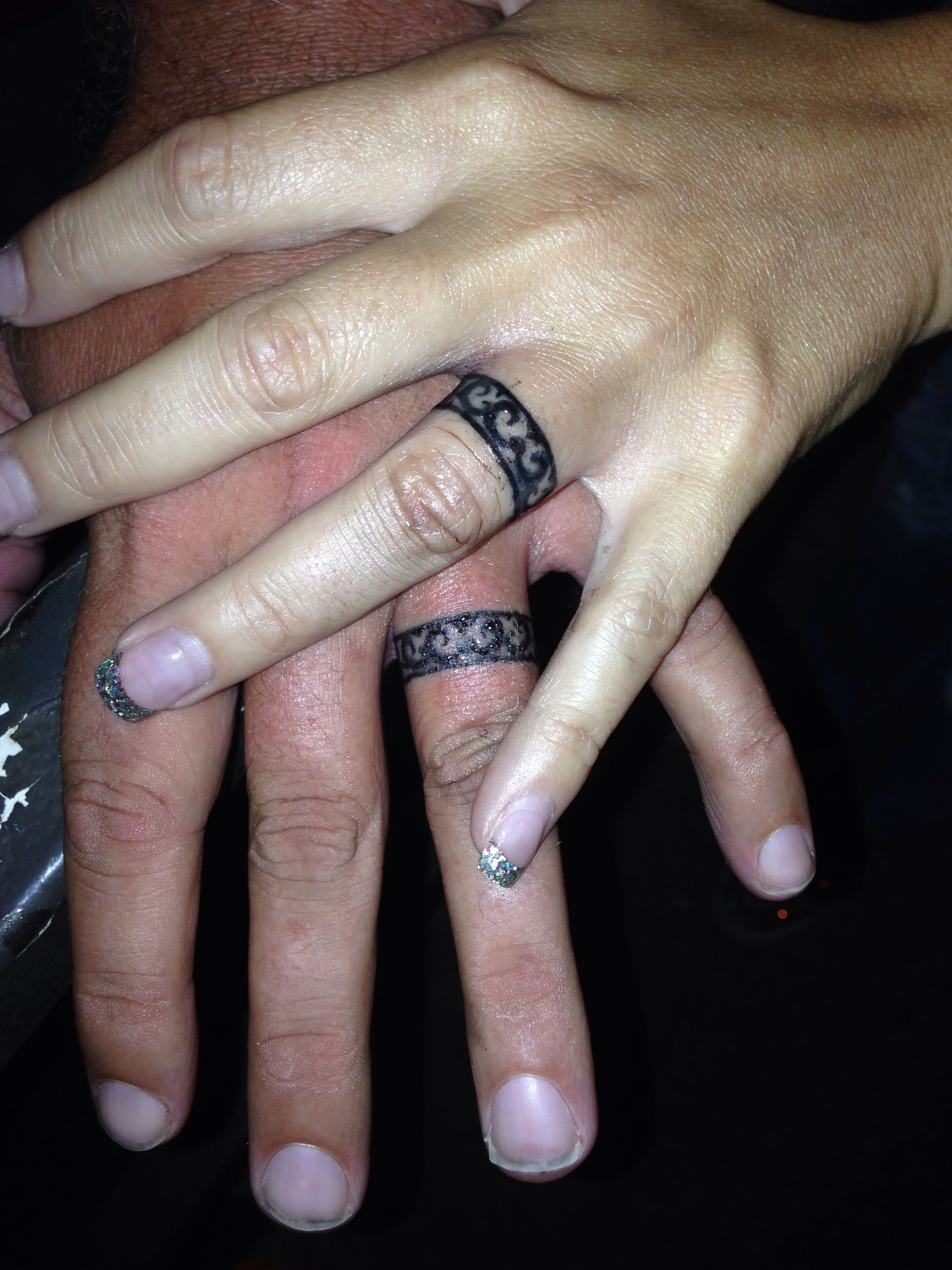 Our Wedding Bands Wedding Finger Tattoos Wedding Band