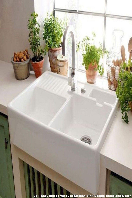 25 Beautiful Farmhouse Kitchen Sink Design Ideas And Decor Kitchen Sink Decor Farmhouse Sink Kitchen Ceramic Kitchen Sinks