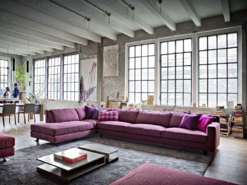 Divano Viola ~ Divo il divano ad angolo viola da novamobili interior design