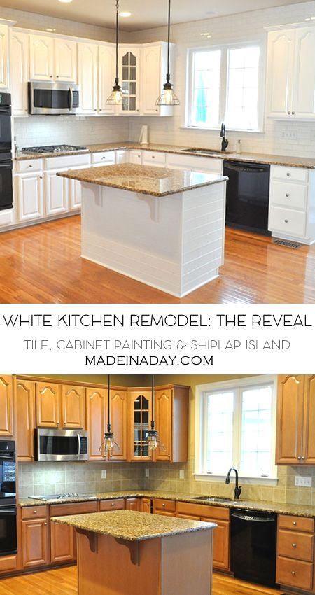 White Kitchen Remodel The Big Reveal,White painted kitchen cabinets