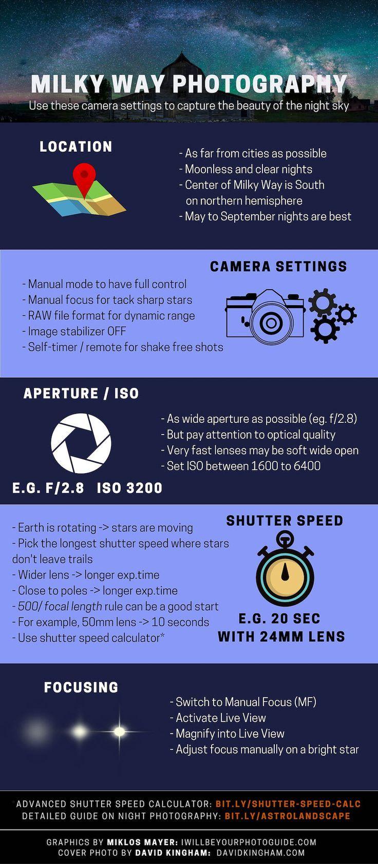 Photo of camera settings stars Photography Tips