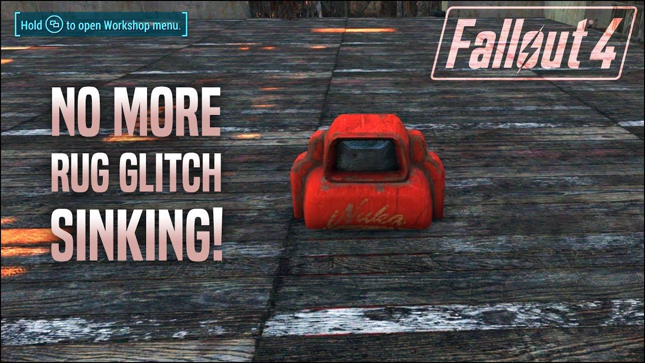 Rug Glitch Sink Problem Solved Fallout 4 No Mods Shop Class Glitch Shop Class Fallout
