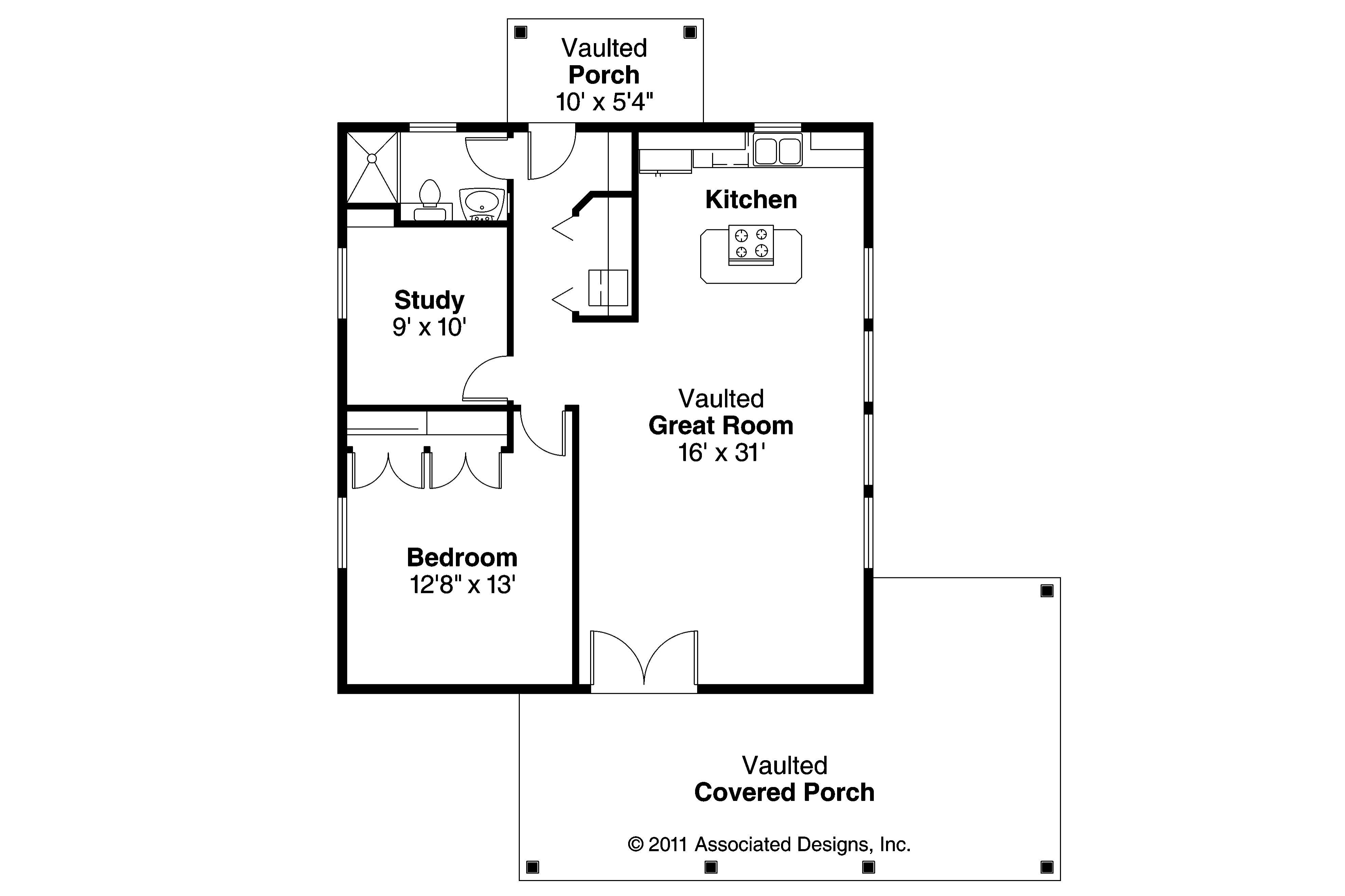 Bungalow House Plan Kent 30 498 Floor Plan #2: ef a6d6b1159d4c02e95ad0590
