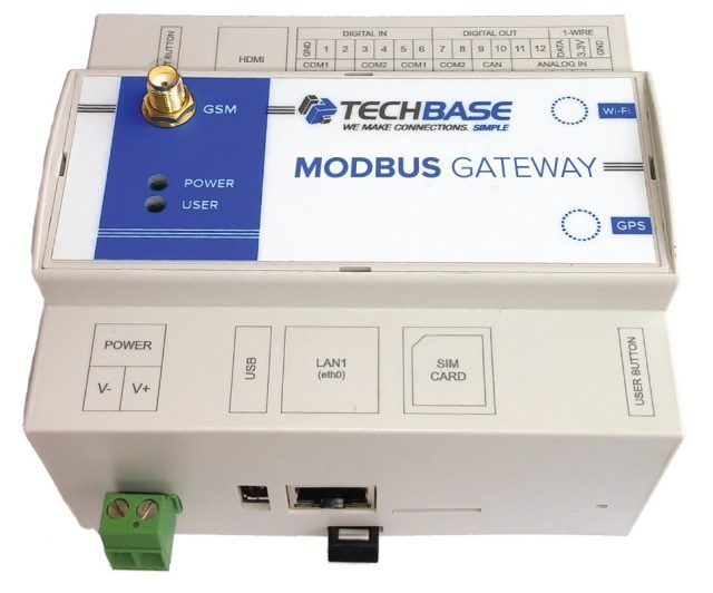 MODBUS RTU to MODBUS TCP Gateway 2xRS485 is a Programmable