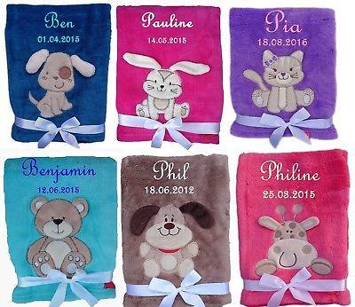inkl Babydecke mit Namen bestickt ein Paar Socken Geschenk Geburt Taufe Baby
