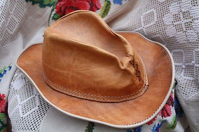 Good old lived in leather Hat great design and detail