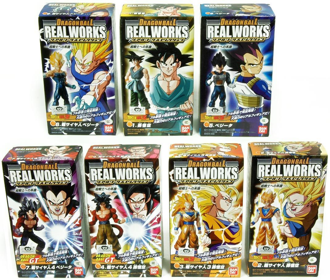 Dragonball Z Real Works Trading Figure Set Of 7