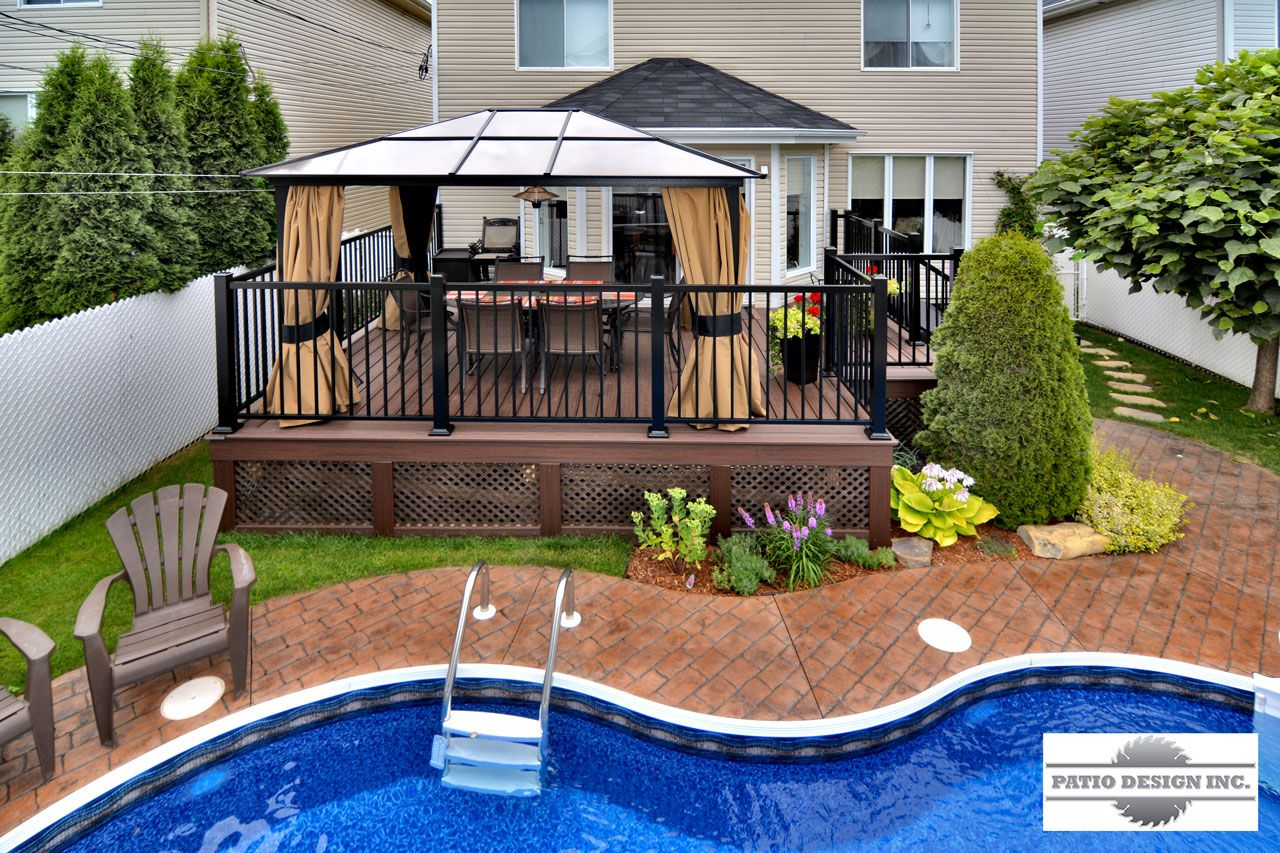 Patio avec piscine creus e decks pinterest decking for Spa et patio