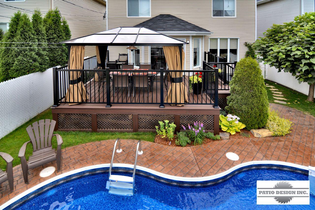 Patio avec piscine creus e id es jardin en 2018 pinterest piscine piscine creus e et cour - Amenagement exterieur piscine creusee ...