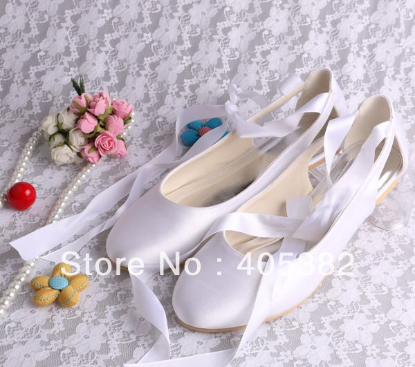 da607a019 Cheap shoes for, Buy Quality shoes flats womens directly from China ivory  leather bridal shoes Suppliers: Welcome to our store Ivory Round Toe Lace Up  Satin ...