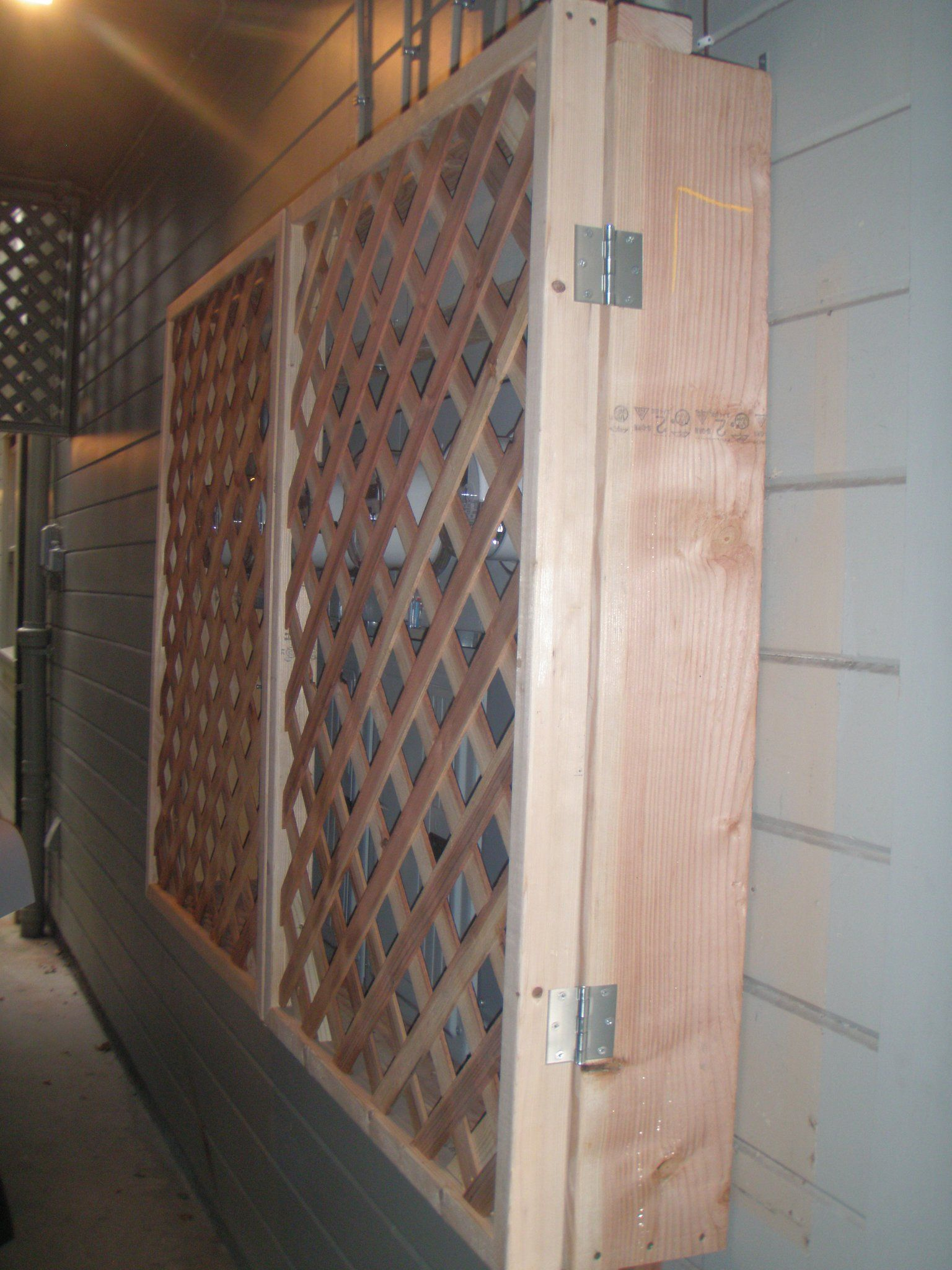 lattice cover to my building 39 s electrical panel