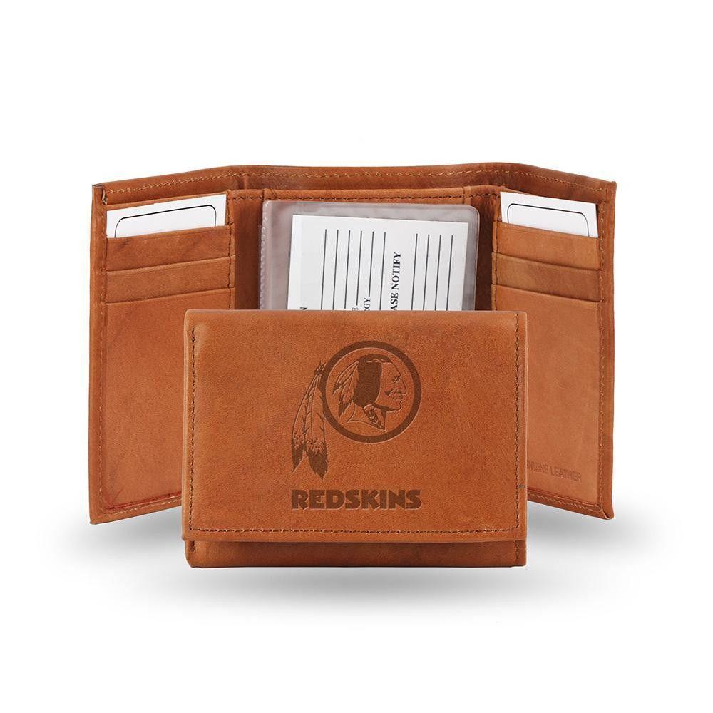 Washington Redskins Tri-Fold Wallet (Pecan Cowhide)