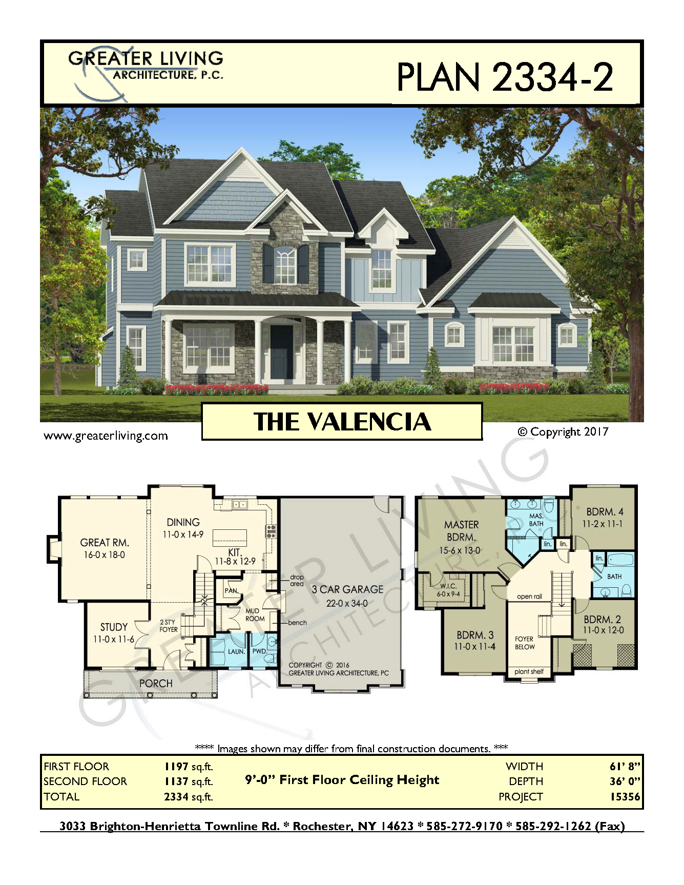 Plan 2334 2 the valencia two story house plan greater living architecture residential architecture