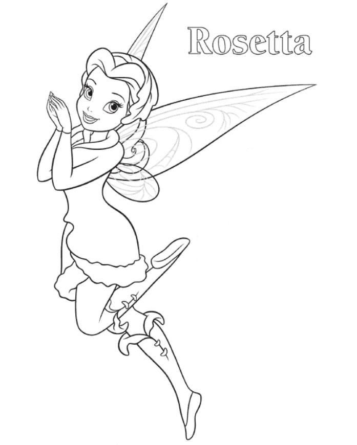 Rosetta Tinkerbell Coloring Page Tinkerbell Coloring Pages