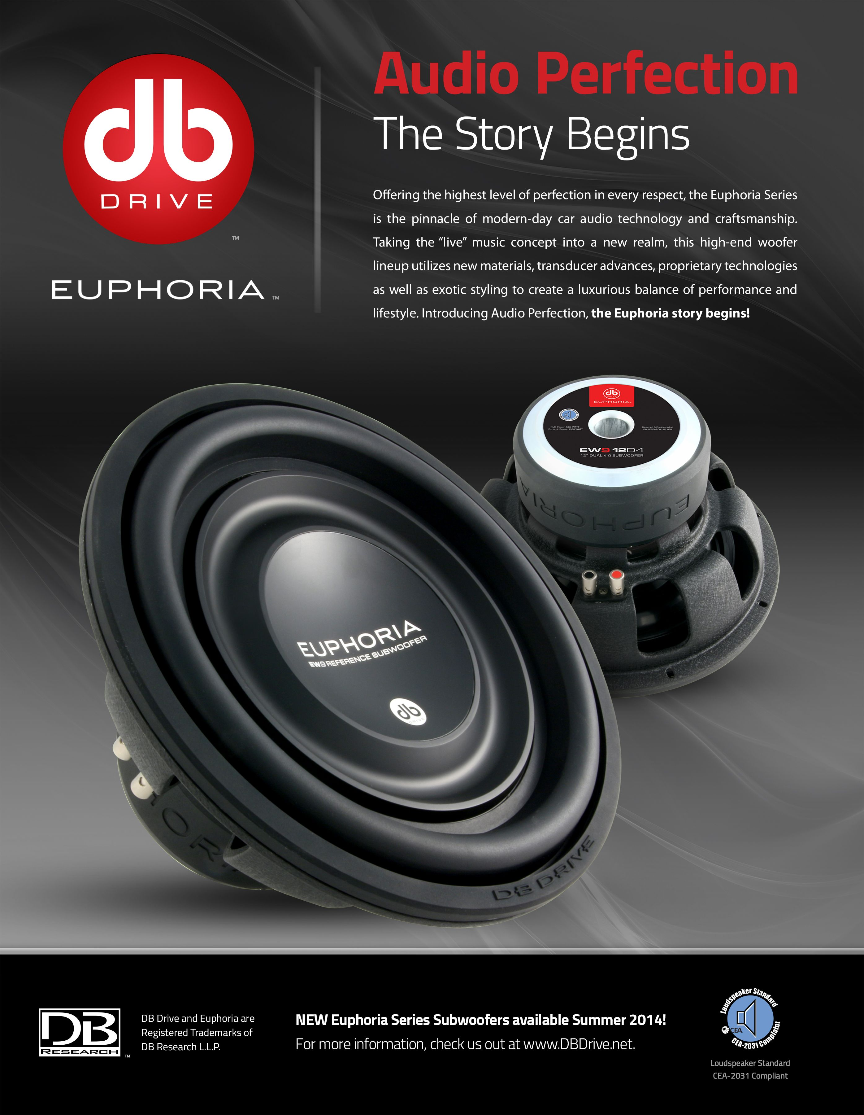 db drive subwoofers euphoria db research advertisement db drive subwoofers euphoria