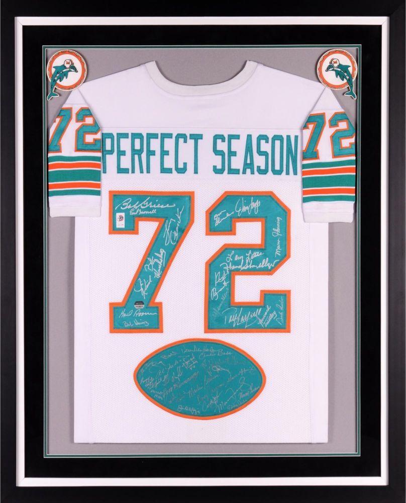 95cdb73e371 1972 Team Signed Miami Dolphins Framed Signed 40th Anniversary Jersey -  Fanatics  sportsmemorabilia  autograph  football