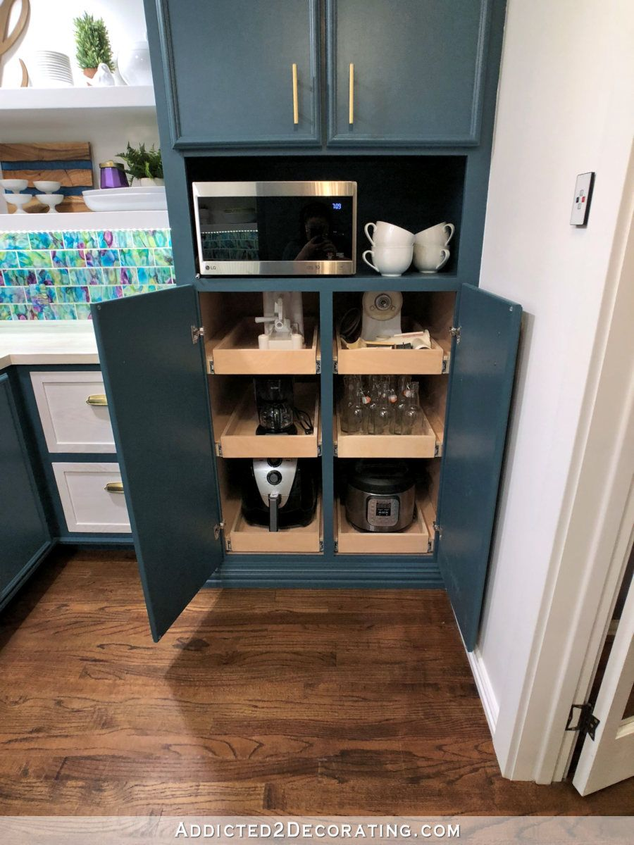 Butler's Pantry Design - Remodel Before & After #pantrycabinet