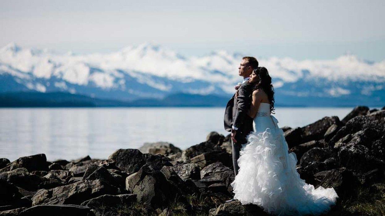 Nathan And Lilians Cruise Ship Destination Wedding In Alaska US Photo Taken Near The Shrine
