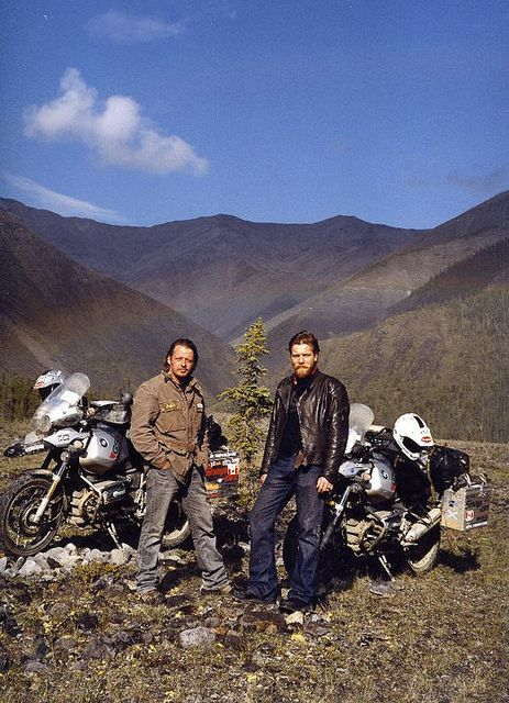 Ewan McGregor and Charlie Booreman - Long Way Round. Seriously If you've never seen this documentary it's worth a watch. Instantly makes you want to go on an adventure :)