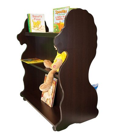 Espresso Lion Mobile Double-Sided Bookcase #zulily #zulilyfinds ...