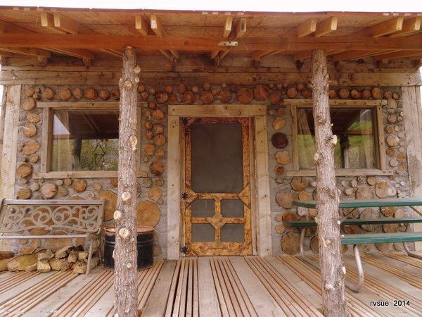 A Cordwood Cabin Built By Father And Son Cordwood Homes Cord Wood Build My Own House