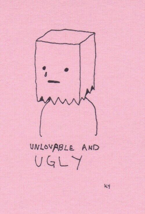 Sad emo pink aesthetic wallpaper ugly unlovable tumblr ...