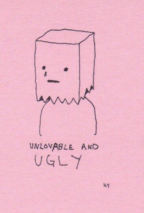 Line Art Aesthetic : Sad emo pink aesthetic wallpaper ugly unlovable tumblr