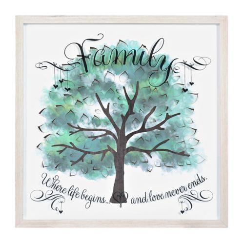 Watercolor Family Tree Shadowbox Family Tree Painting Tree Watercolor Painting Tree Painting Canvas