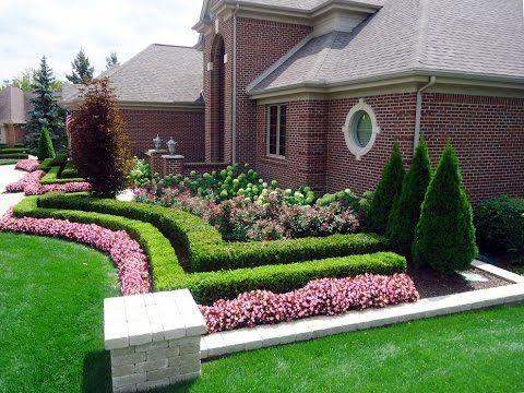 Small Garden Design Ideas Youtube Front Yard Design Home Landscaping Front Landscaping