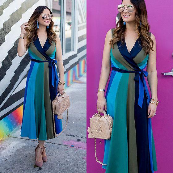 Jenn Lake - Diane Von Furstenberg Penelope Wrap Dress, Chanel Vanity ...