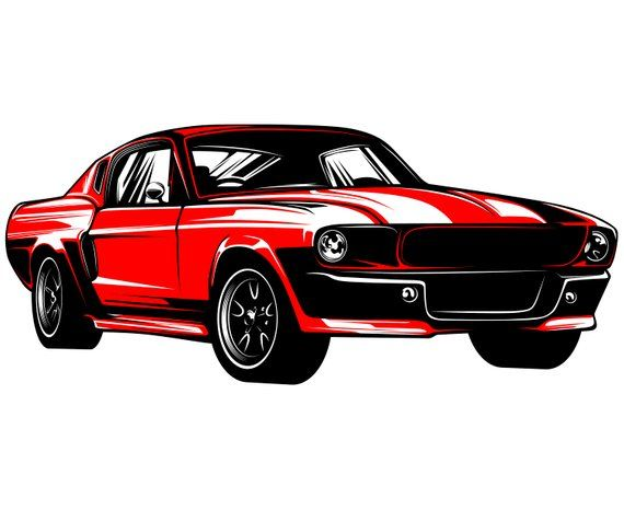 Ford Mustang Svg Mustang Svg Hot Rod Svg 1967 Muscle Car Vector
