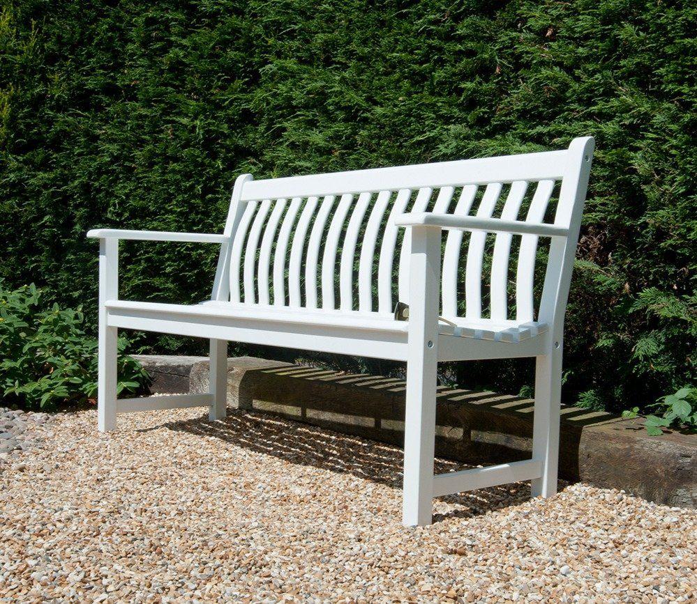 Amazing Alexander Rose White Painted Broadfield 5Ft Bench Garden Forskolin Free Trial Chair Design Images Forskolin Free Trialorg