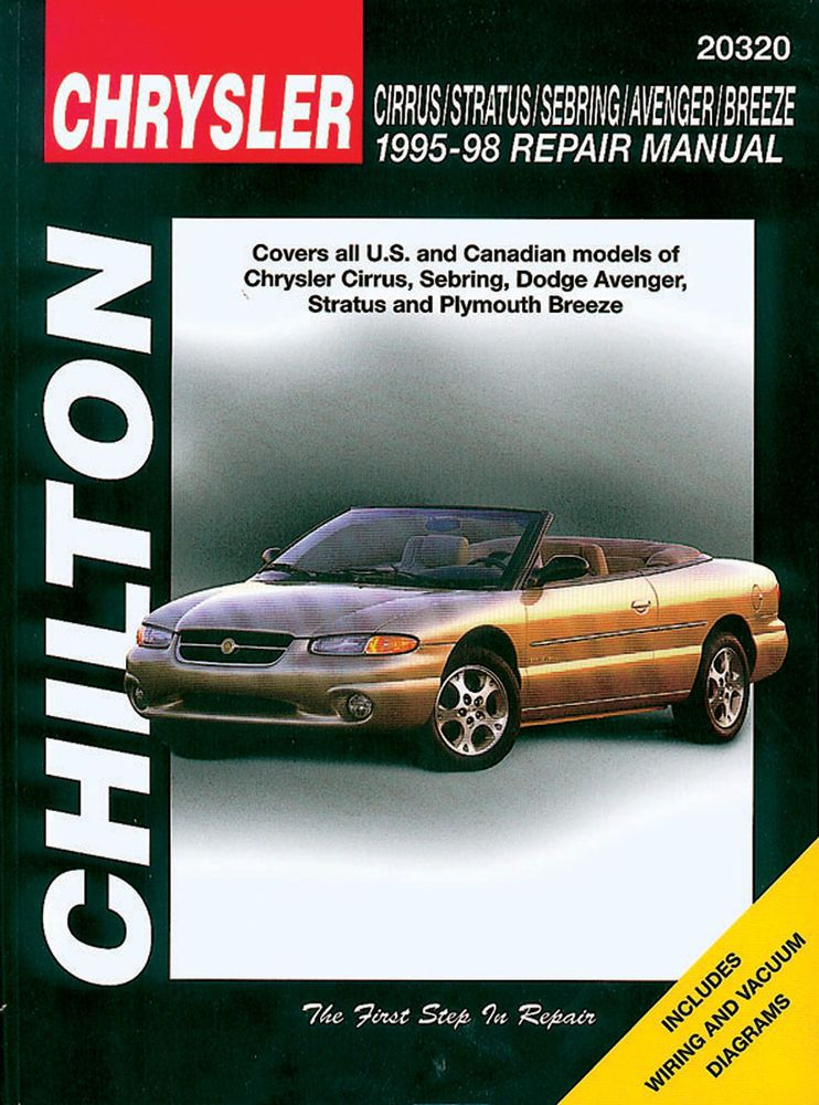 Chilton Repair Manual Chrysler Cirrus Stratus Sebring Avenger Breeze 95 98 20320 Chilton Repair Manual Chrysler Cirrus Chilton