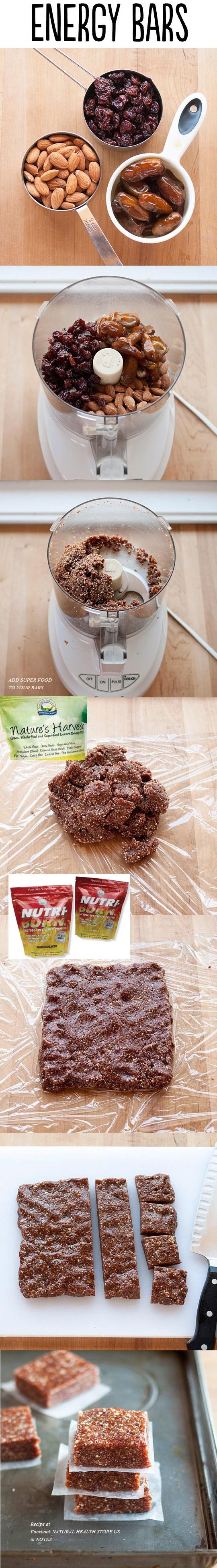 ENERGY BARS with Super Foods https://www.facebook.com/NaturalHealthStore.US /#Natural#Sunshine#Favorite#Alternative#Medicine#Health#Beauty#New#food