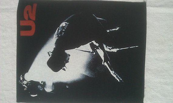 RARE Vintage U2 Rattle & Hum Rock Metal jacket Back Patch New Old/Dead stock
