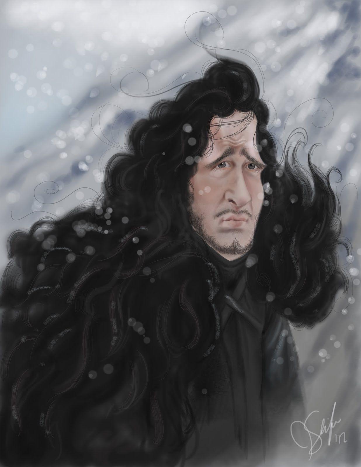 Jenny Slife: Game of Thrones Caricatures: Jon Snow
