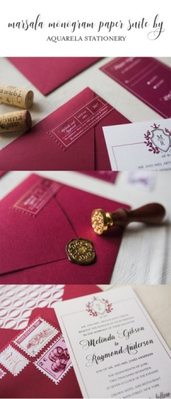 Love the color of the envelopes with a gold seal!! Gorgeous ...