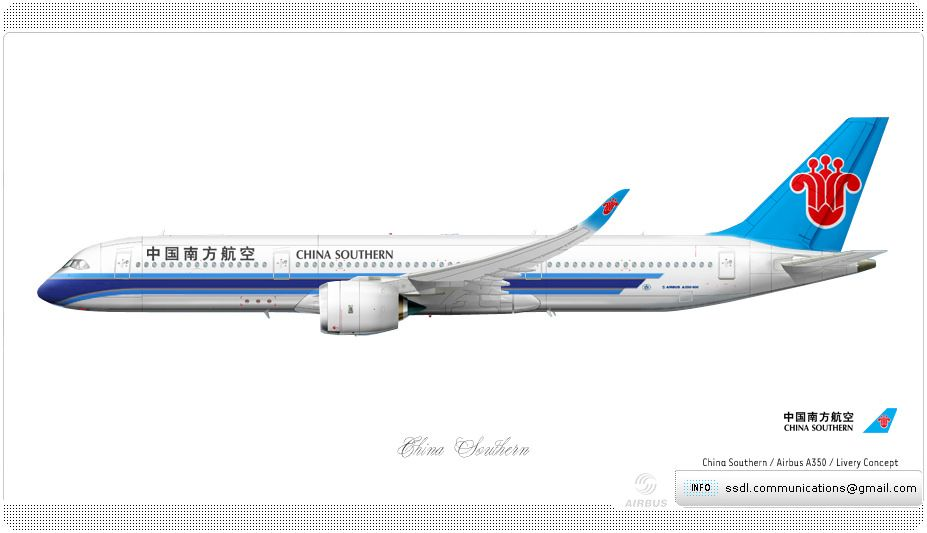 China Southern Livery Concept China Southern Airlines Aviation Airline Company