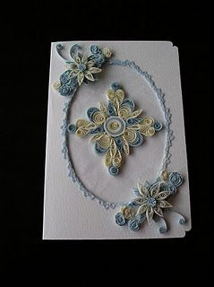 card made using paper quilling