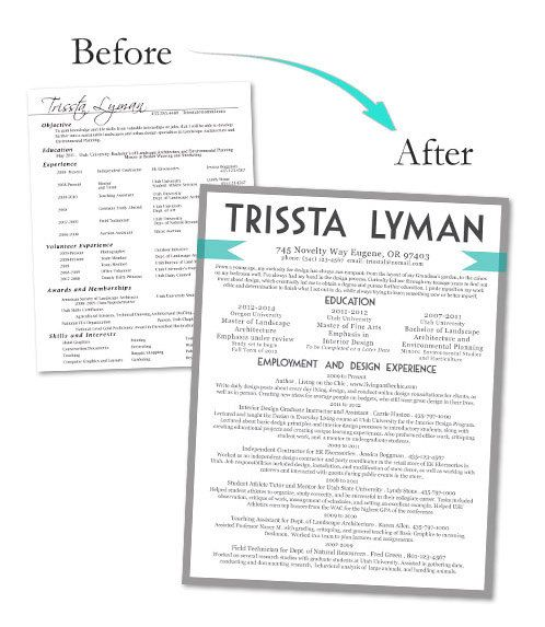 Custom Resume Design by LivingontheChic on Etsy, $3000 Love - making the perfect resume