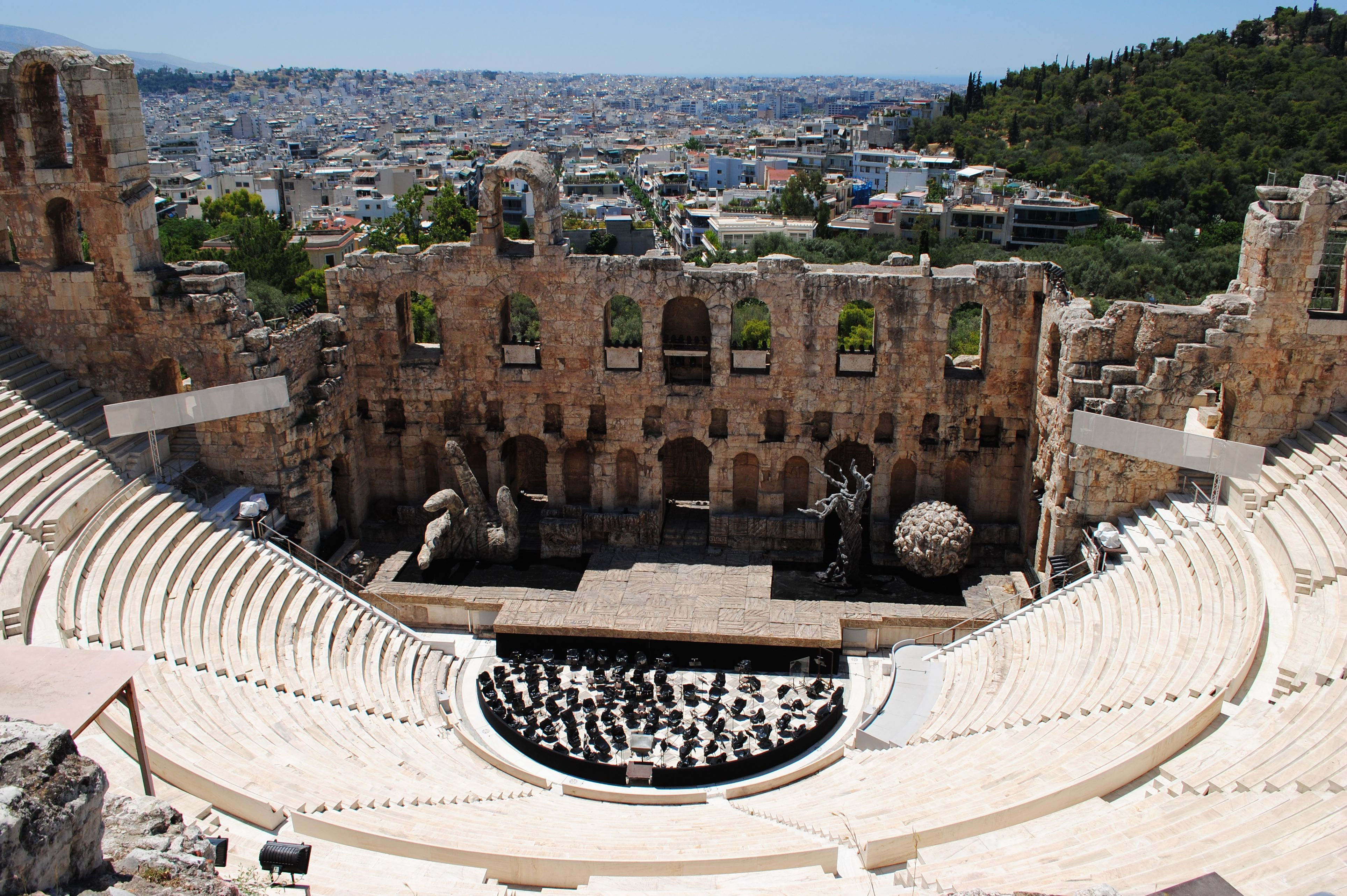 Odeon Of Herodes Atticus Ancient Greek Theatre Ancient Greek Architecture Athens